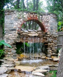 Water fall garden feature