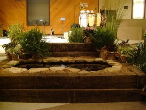 An example of an Indoor Koi Pond